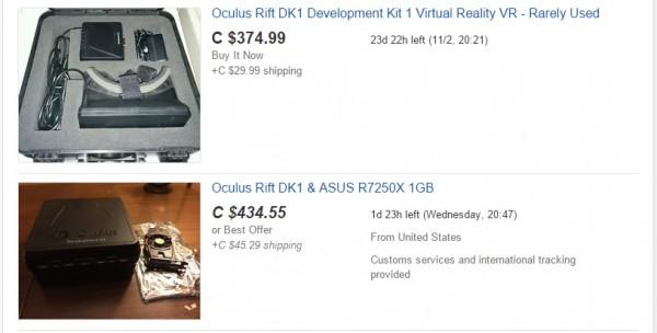 Oculus DK1 Auction