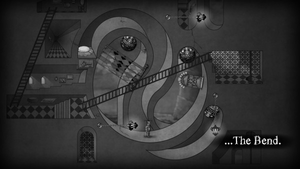 A screenshot of one of the mind bending puzzles in The Bridge.