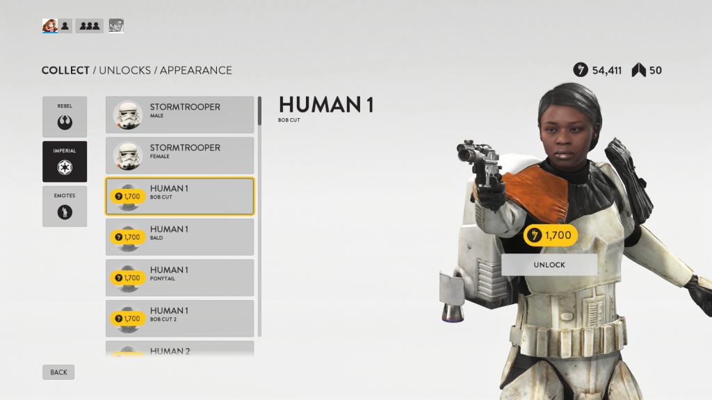 "The ""Human 1"" skin in Star Wars: Battlefront."