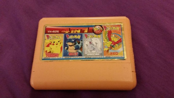 JX TV.Game Cartridge YH-4126 4 in 1 Super Game Pokemon