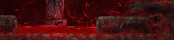 The floor isn't lava, it's blood, with tentacles in it.