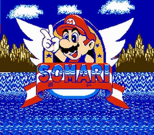 Somari title screen