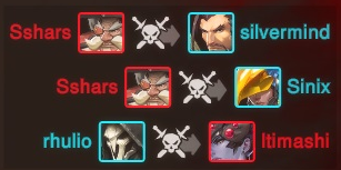 Overwatch killfeed, courtesy of Gosu Gamers.