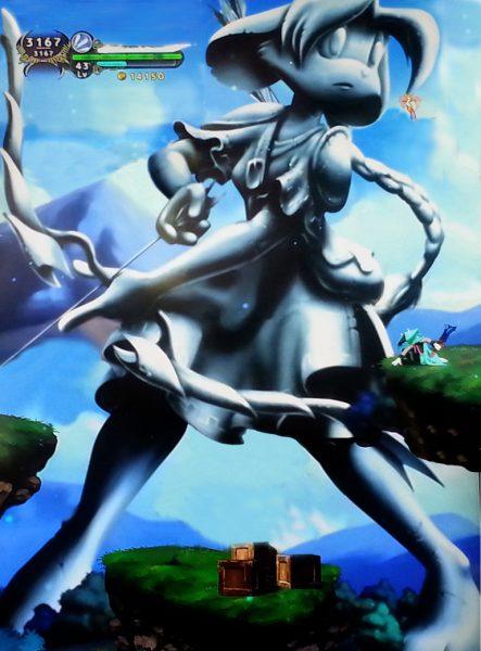 dust__an_elysian_tail__archer_girl_statue_by_lysanderxx-d6g2mdv