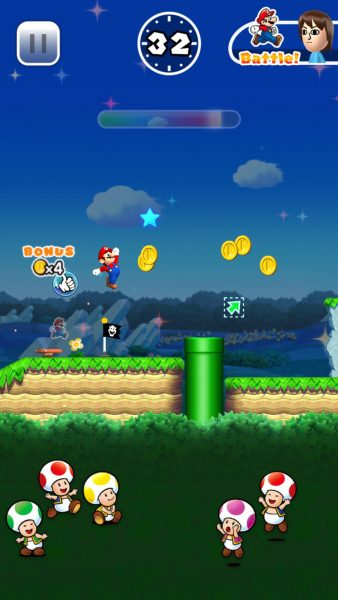 Super Mario Run on the iPhone 6 Plus