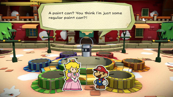 Paper Mario Color Splash Paint Can