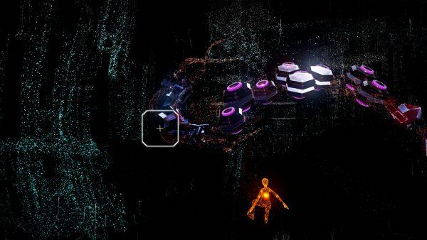 Massive creatures surround you in Rez Infinite's Area X